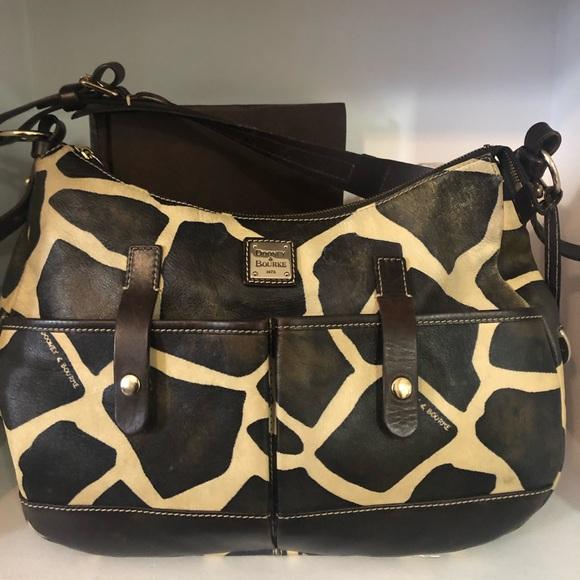 Dooney & Bourke Handbags - DOONEY & BOURKE Med GIRAFFE PRINT Leather Hobo